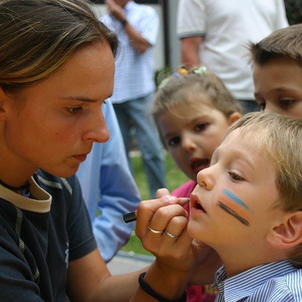 Kinderanimation Schminken